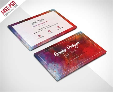 Free Business Card Templates Artwork by 33 Artist Business Cards Free Psd Ai Vector Eps