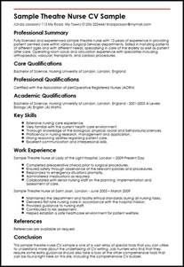 sle theatre cv sle myperfectcv