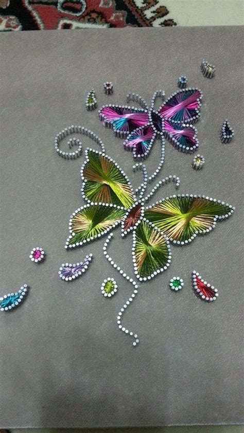 String Butterfly - butterfly string card beautiful