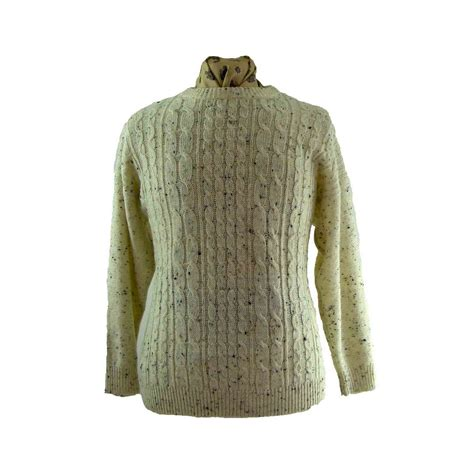 white cable knit sweater blue 17 vintage fashion