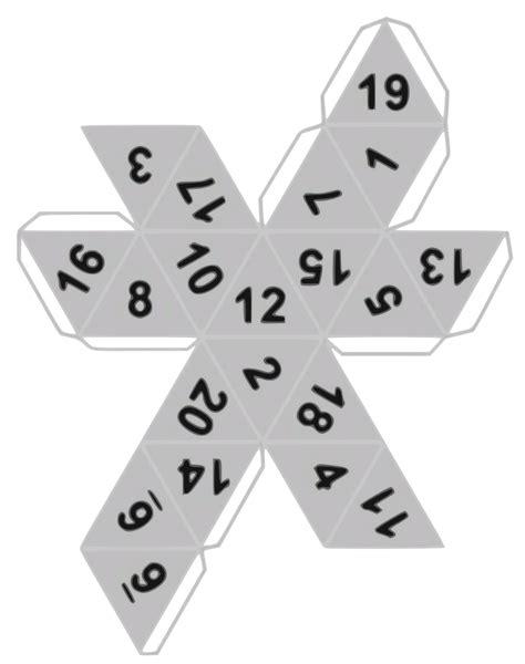 printable 8 sided dice template file estructura creaci 243 n de d20 svg wikimedia commons