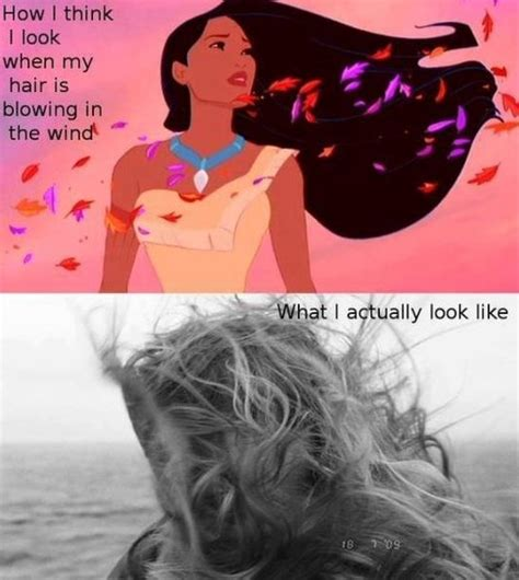 Funny Hair Meme - the wind in your hair