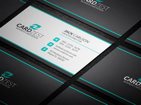 professional business card template clean professional corporate business card template 187 cardzest
