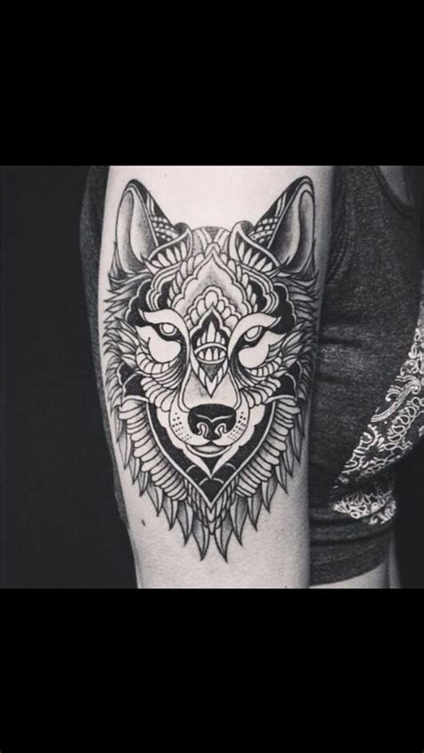 wolf tattoo mandala style tattoos pinterest animal