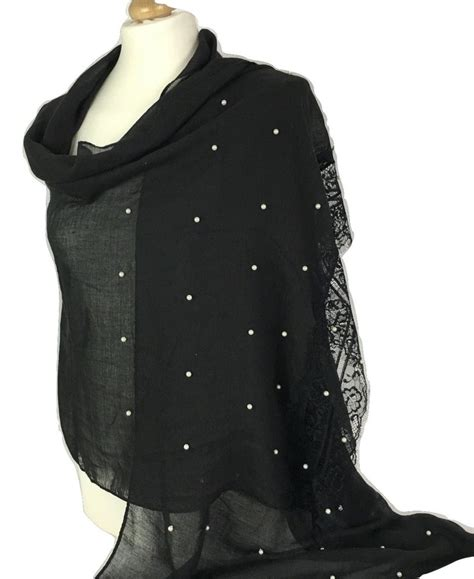Pearl Scarf 3 new soft pearl beaded large scarf pashmina