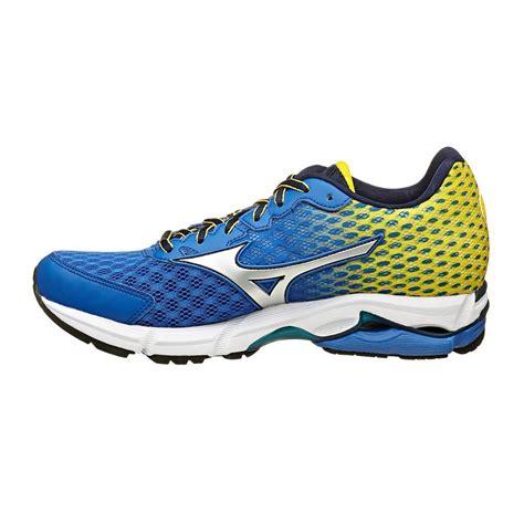 rider shoes australia mizuno wave rider 18 mens running shoes blue yellow