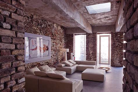 Modern Industrial Living Room by 10 Brick Walls Living Room Interior Design Ideas Https Interioridea Net