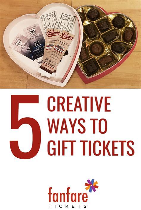 4 Ways To Gift 5 creative ways to gift tickets concert junkies