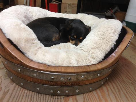 wine barrel dog bed wine barrel dog bed for dogs up to 50 pounds