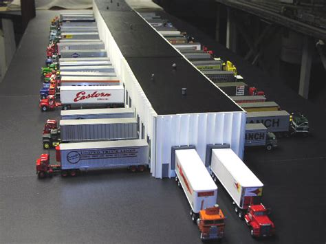 warehouse layout models truck warehouse terminal