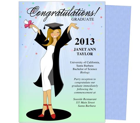 Pin By Carole Galassi On Printable Diy Graduation Announcements Templ Diy Graduation Announcements Templates Free