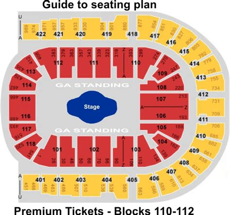 Waterloo Floor Plan london o2 arena guide to seating plan