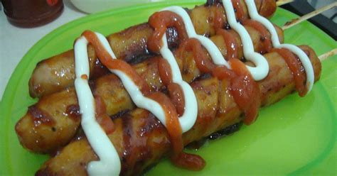 resep sosis panggang lada hitam oleh fitria ekowati cookpad