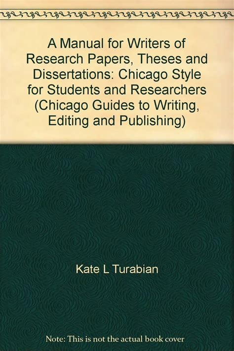 a manual for writers of research papers theses and dissertations kate turabians a manual for writers of term papers
