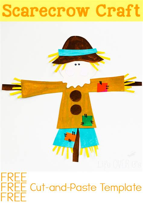 Go Go Cutting And Pasting cut and paste scarecrow craft for fall