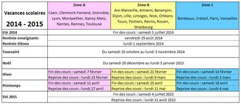 Calendrier Des Vacances Scolaires 2014 Les Vacances Solaires 2014 2015