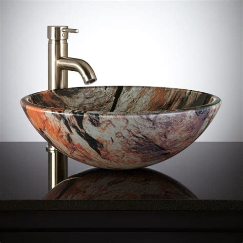 decorative glass vessels simple way to install a glass vessel sinks the