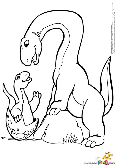 free coloring pages of brachiosaurus