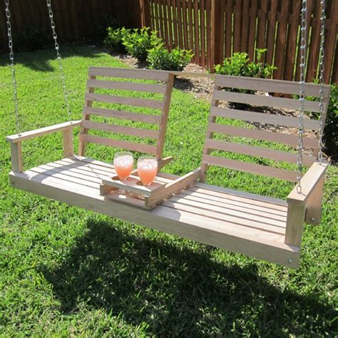 5 Foot Porch Swing beecham swing co drink cupholder wooden 5 foot porch swing 55556