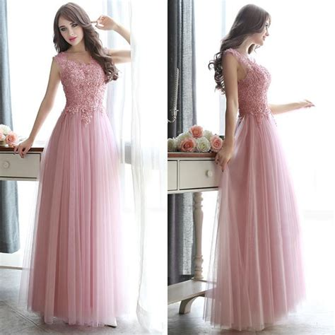 Maxi Princess Tile open back pearl beaded prom dresses all beaded pink