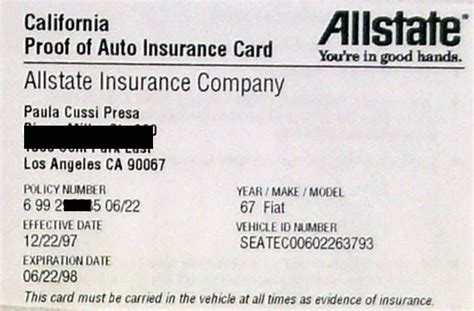 Allstate Auto Insurance Card, Allstate Auto Insurance
