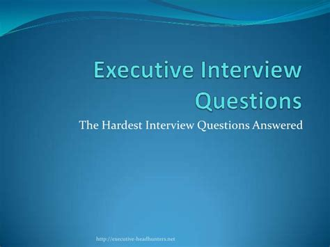 Hardest Or Question Hardest Executive Question