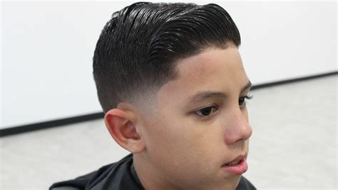 how to cut comb over hair kids comb over haircut by will perez youtube