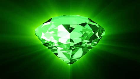 green spinning shiny diamond diamond  hd motion
