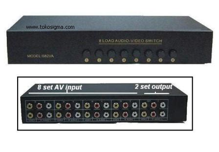 Harga Rca Selector av rca switcher 8in to 2out s82va toko sigma