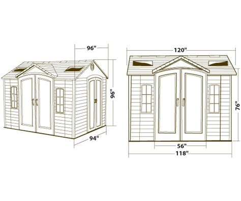 lifetime 60001 10x8 garden shed on sale with fast free