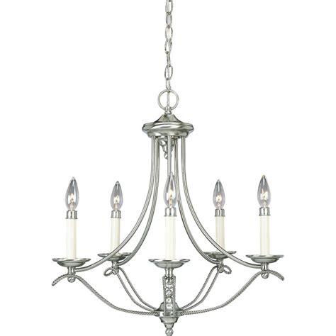 elk lighting five light brushed nickel up chandelier progress lighting avalon collection brushed nickel 5 light