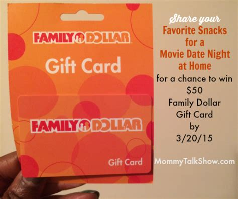 Family Dollar Gift Card - 4 films that remind me of our love story