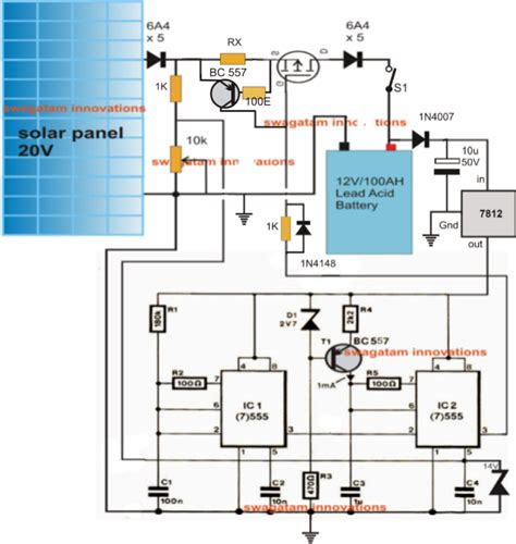 solar battery charge controller circuit diagram simple solar mppt circuit part 1