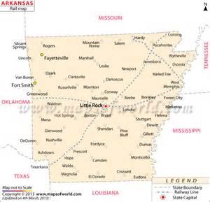 Arkansas Railway Map Http Www Mapsofworld Com Pinterest