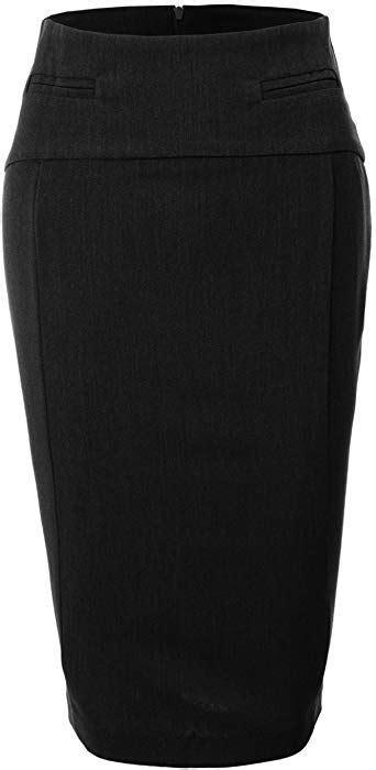 Amazon.com: LE3NO Womens High Waisted Pencil Midi Skirt