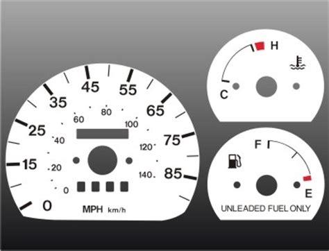 1992 1997 geo metro non tach white face gauges