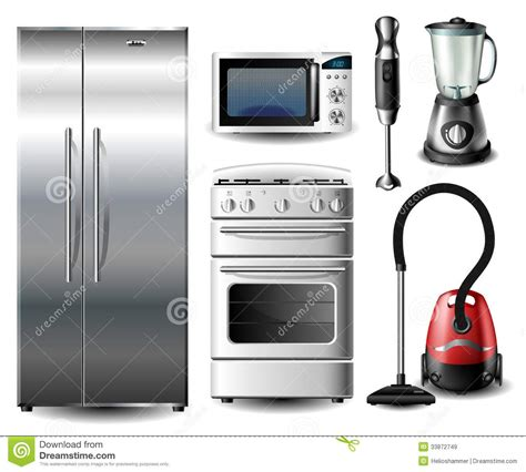 best kitchen appliance set kitchen appliance set royalty free stock images image