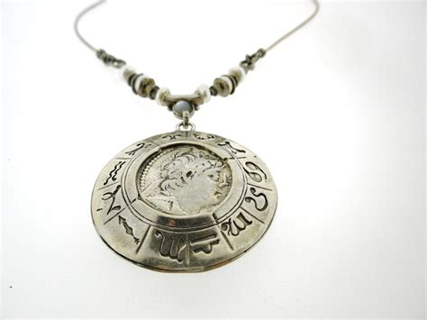 Handcrafted Sterling Silver Jewelry - porans handcrafted sterling silver necklacecoin pendant by