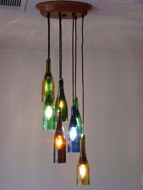 Best 25 Wine Bottle Ls Ideas Only On Pinterest Bottle Chandelier Diy
