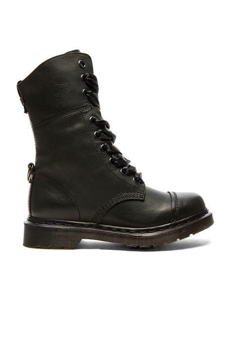 martens boots lyst dr martens aimilita 9 eye leather boots in black