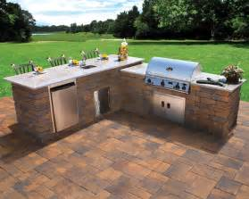 nicolock outdoor kitchen and grill contemporary patio new york by nicolock paving stones