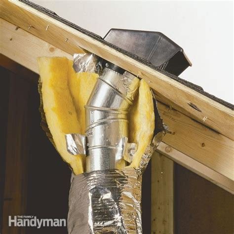 bathroom exhaust through roof venting exhaust fans through the roof the family handyman