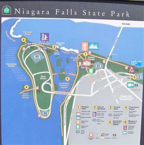 usa map niagara falls niagara falls state park map my