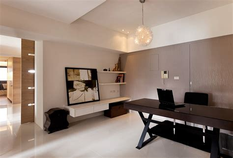 office in home modern minimalist decor with a homey flow