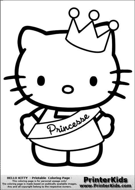 Hello Kitty Hello Kitty Princess Coloring Pages Big Princess Hello Coloring Pages