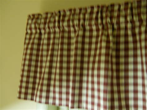 cream check curtains burgundy cream check country curtain by chriscrafts2010 on