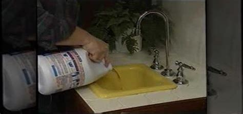 How To Unclog A Kitchen Sink With Disposal How To Unclog A Backed Up Kitchen Sink 171 Plumbing Electric Wonderhowto