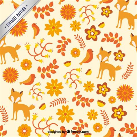 cute pattern vector free cute pattern with orange nature vector free download