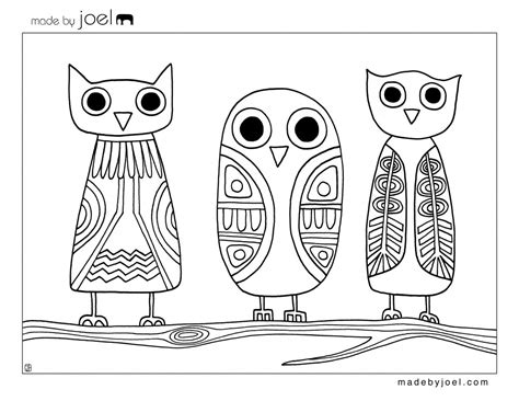free printable halloween owl coloring pages made by joel 187 owls coloring sheet