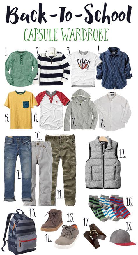 Back To School Wardrobe by Simply Girly Back To School Capsule Wardrobe Boy
